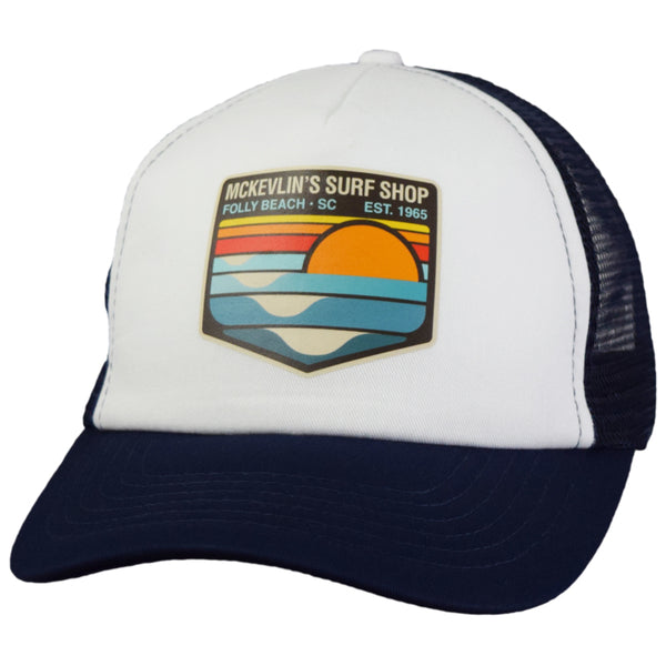 McKevlin's - Park Transfer 2.0 Trucker Hat - Navy/White - MCKEVLIN'S SURF SHOP