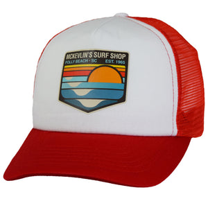 McKevlin's - Park Transfer 2.0 Trucker Hat - Red/White - MCKEVLIN'S SURF SHOP