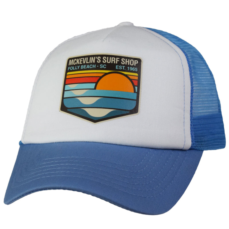 McKevlin's - Park Transfer 2.0 Trucker Hat - Sky Blue/White - MCKEVLIN'S SURF SHOP
