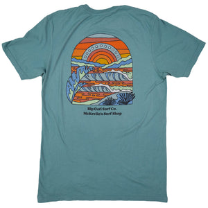 McKevlin's - Rip Curl Sundown Men's S/S T - Light Blue