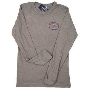 McKevlin's - Stand Up Men's L/S T - Heather Stone