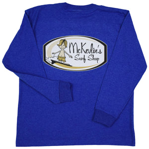 McKevlin's - Surf Patch Youth L/S T - Royal Heather