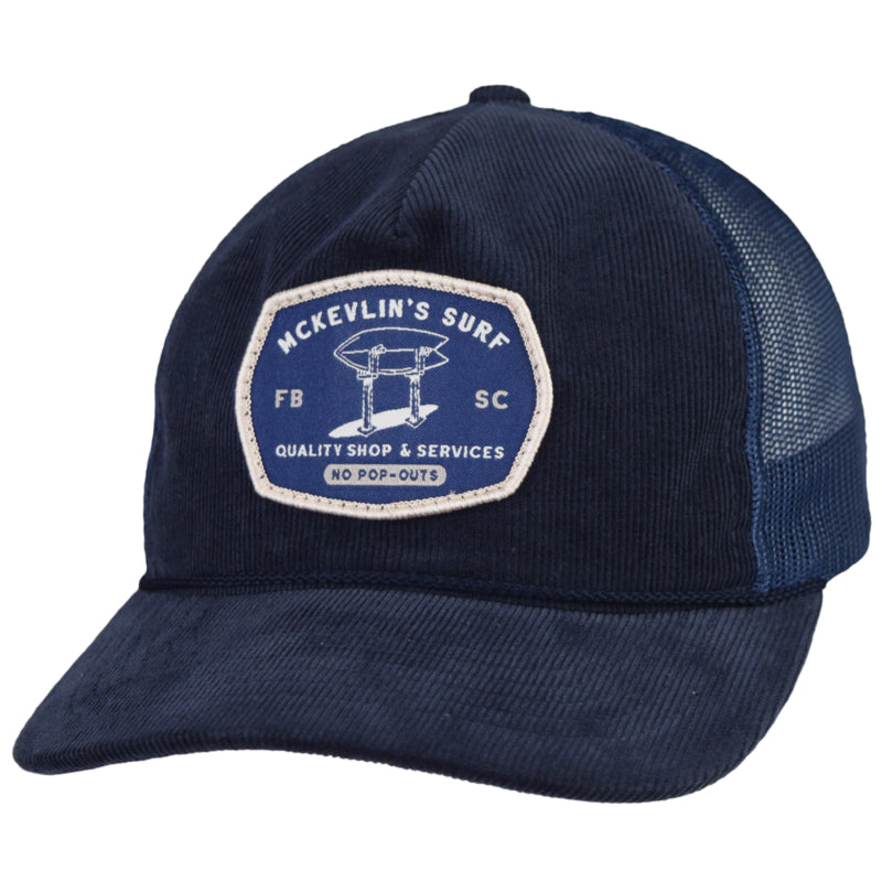 McKevlin's - Stand Up Cord Trucker Hat - Navy - MCKEVLIN'S SURF SHOP