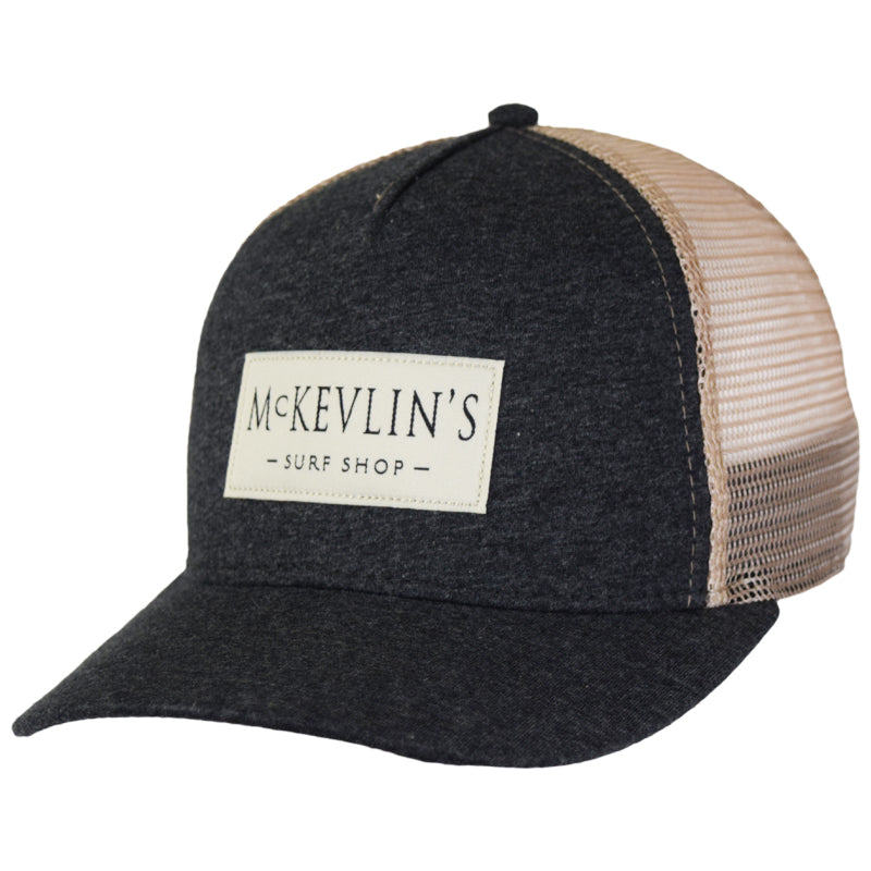 McKevlin's - Sunday Trucker - Charcoal Heather/Khaki - MCKEVLIN'S SURF SHOP