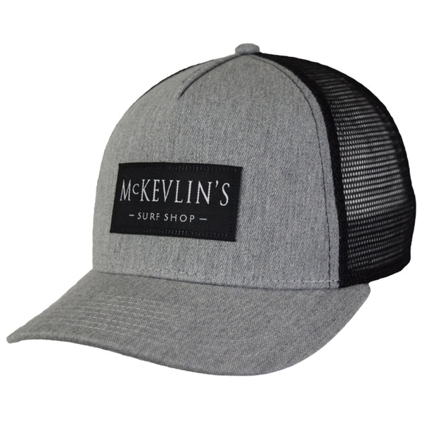 McKevlin's - Sunday Trucker - Grey Heather/Black - MCKEVLIN'S SURF SHOP