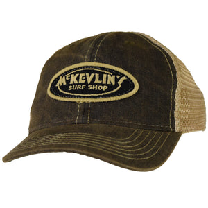 McKevlin's - Toddler Size Classic Oval Patch Trucker Hat - Black - MCKEVLIN'S SURF SHOP