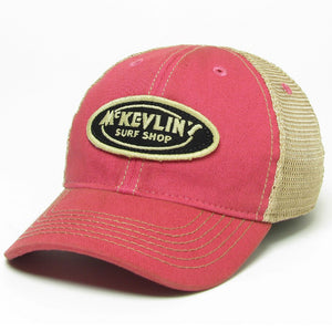 McKevlin's - Toddler Size Classic Oval Patch Trucker Hat - Pink - MCKEVLIN'S SURF SHOP