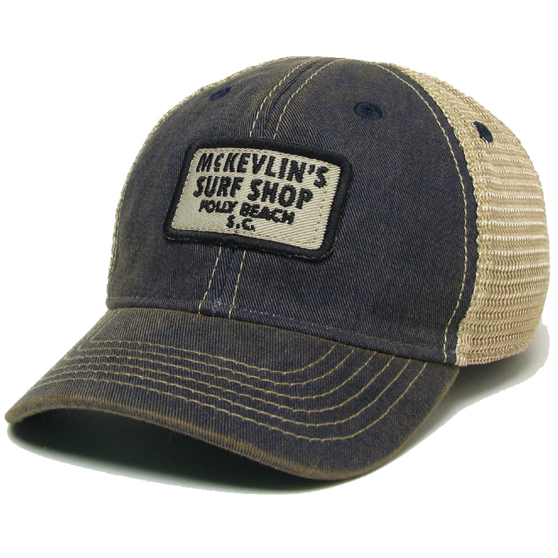 McKevlin's - Toddler Size 65 Patch Trucker Hat - Navy - MCKEVLIN'S SURF SHOP