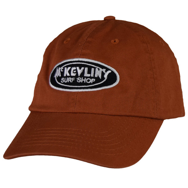 McKevlin's - Classic Oval Unstructured Hat - Burnt Orange - MCKEVLIN'S SURF SHOP