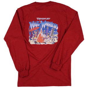 McKevlin's - Wave Warriors Men's L/S T - Red - MCKEVLIN'S SURF SHOP