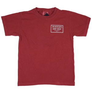 McKevlin's - 65 Dye Youth S/S T - Crimson - MCKEVLIN'S SURF SHOP