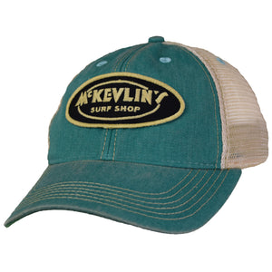 McKevlin's - Youth Size Classic Oval Old Favorite Trucker Hat - Aqua