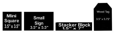 Wood Block template of 4 piece Tiered Tray DIY Kit