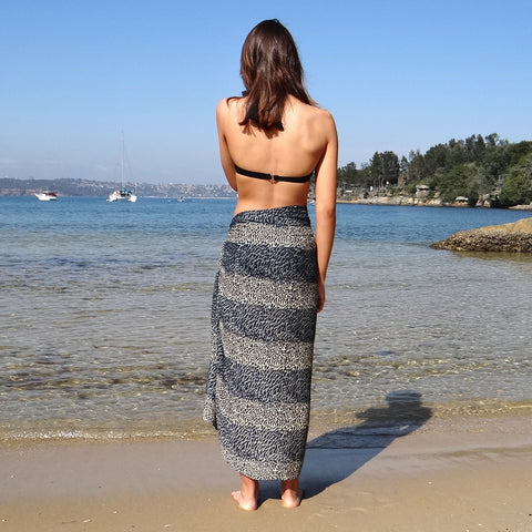 Leopard Charcoal Sarong