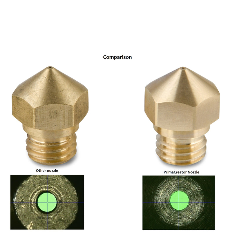 PrimaCreator MK8 Brass Nozzle 0,4 mm - 4 pcs
