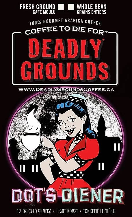 Deadly Grounds Coffee - Dot's Diener - Light Roast Ethiopian | We Shop Local Carleton Place