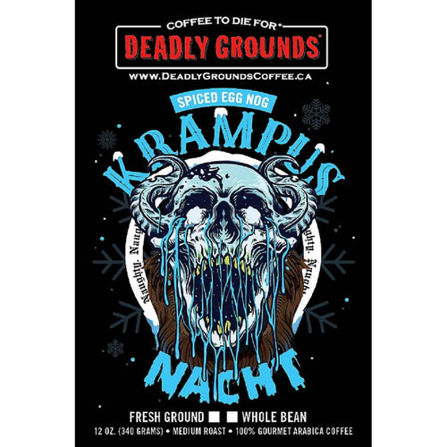 Deadly Grounds Coffee - Krampusnacht | Spiced Egg Nog Flavour | We Shop Local Carleton Place