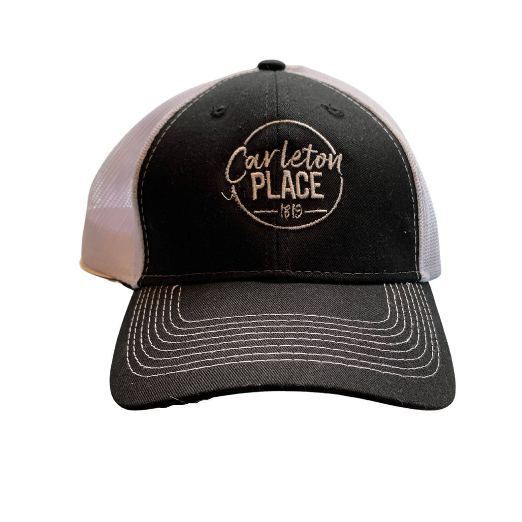 Black and White Carleton Place Ball Cap
