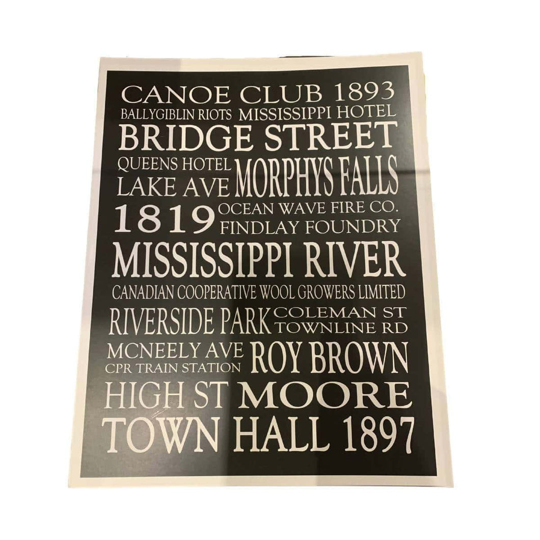 Carleton Place Word Print | We Shop Local Carleton Place
