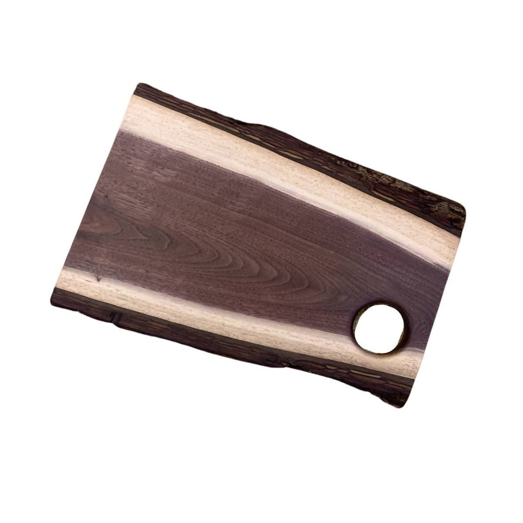 Live Edge Wood Charcuterie Board with Thumb Hole | We Shop Local Carleton Place