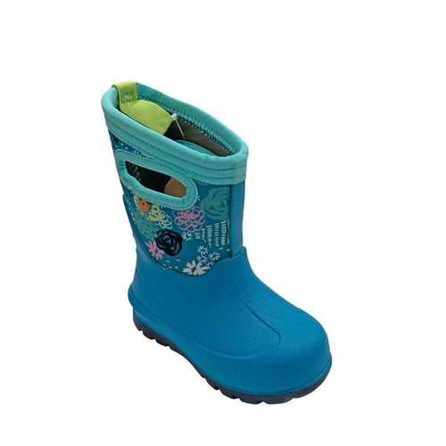 BOGS Girl's NeoClassic Garden Party Winter Boots - Teal | We Shop Local Carleton Place