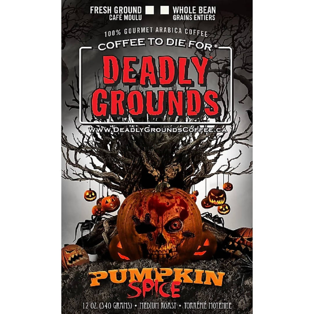 Deadly Grounds Coffee - Pumpkin Spice | Pumpkin Spice Flavour | We Shop Local Carleton Place