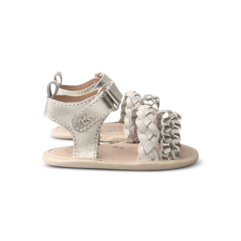 Alba Sandal. Goldie + Wheat - Little Big
