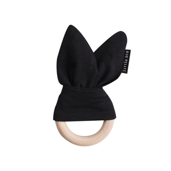 Bunny Ear Teether in Jet - Little Big