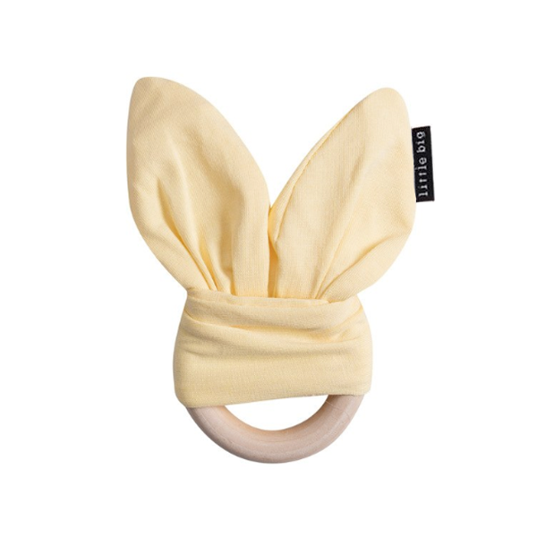 Bunny Ear Teether in Lemon - Little Big