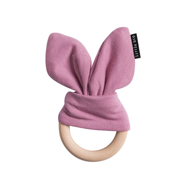 Bunny Ear Teether in Mauve - Little Big