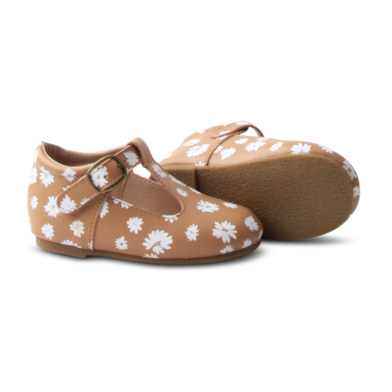 Lou Lou T-bars. Daisy.  Hard Sole - Little Big