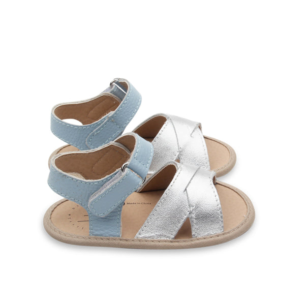 Hopscotch Sandals in Twinkle + Sky - Little Big