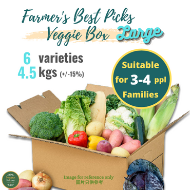 """Farmer's Choice"" Local Organic Vegetable Box - Large Size -"