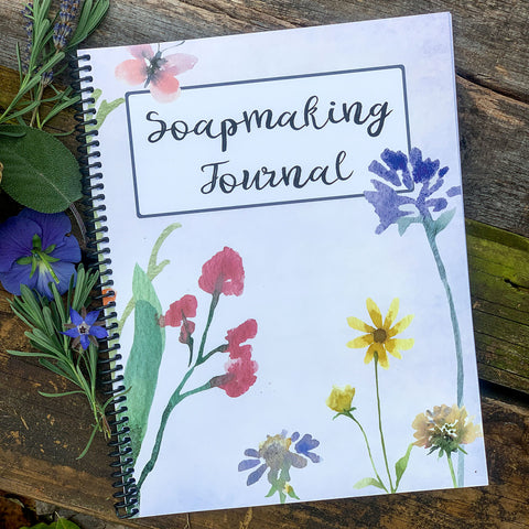 Soapmaking Journal - Wildflowers Cover (Spiral Bound)