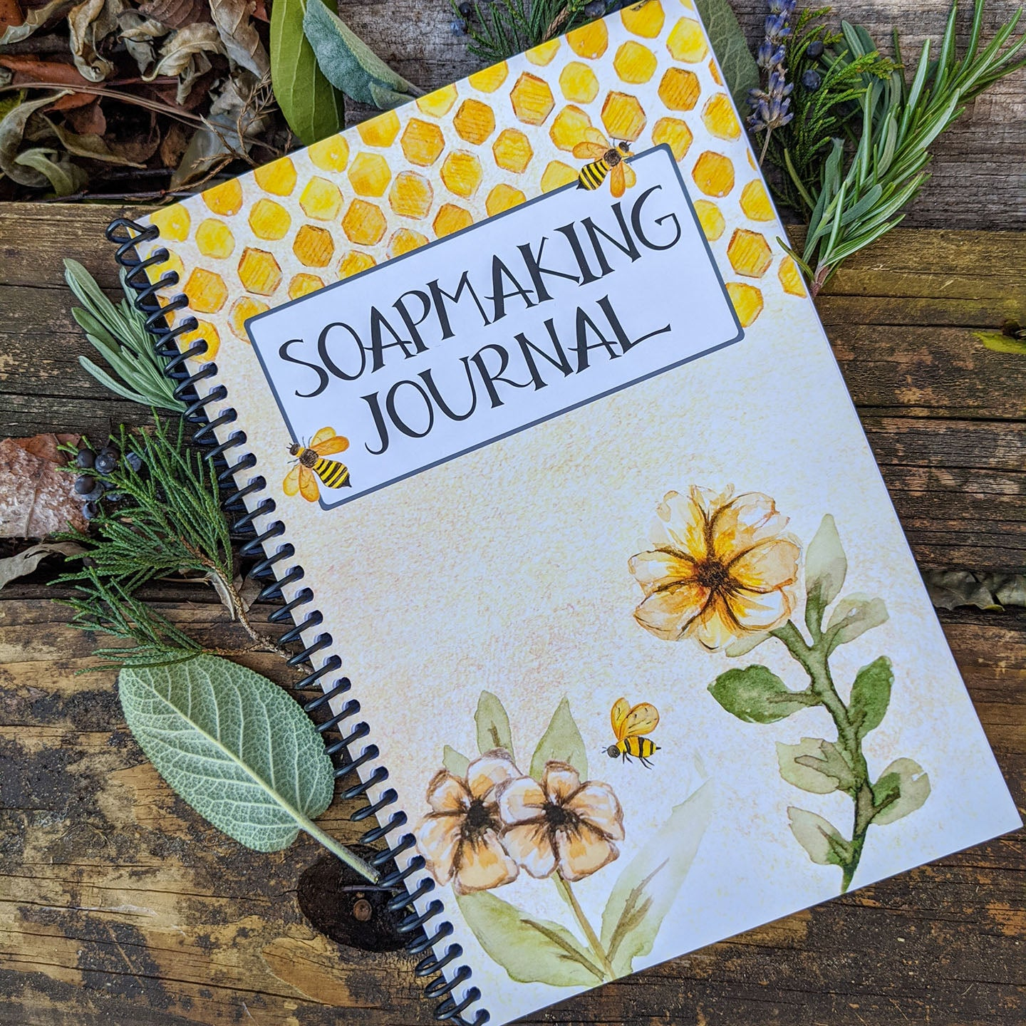 Soapmaking Journal - Honey Bee Cover (Spiral Bound)