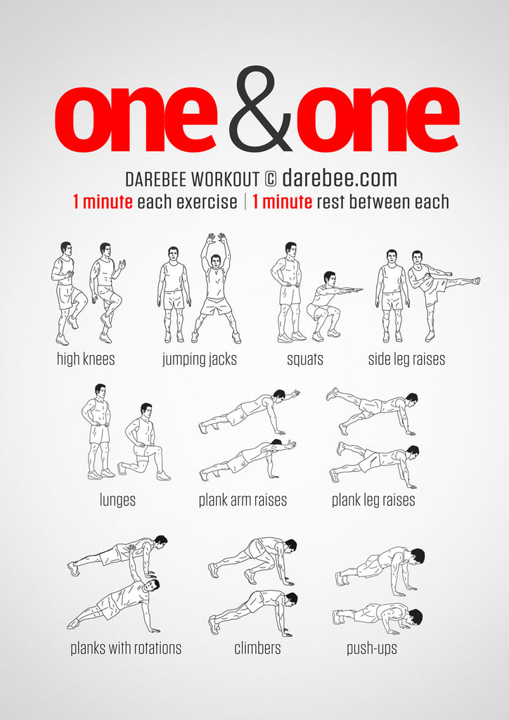 One and one high intensity interval training workout