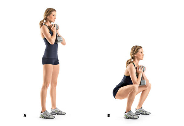 Goblet squats are a great exercise for horse riders of all experience levels