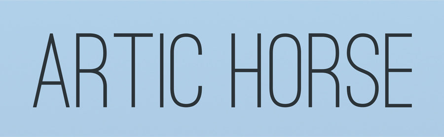 Logo for Artic Horse by Jodi Nelso, makers of custom horse riding accessories