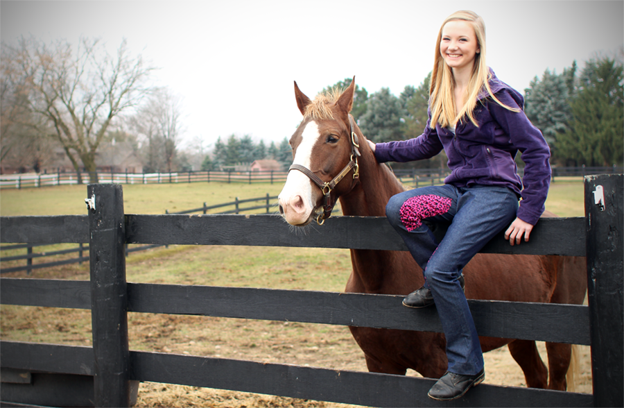 Denim riding jods are a great middle ground for any saddle seat rider
