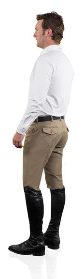 Men's Ovation breeches jods - EuroWeave DX 4-Pocket Front Zip Full Seat Breech from The Jodhpurs Company