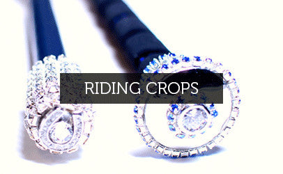 Riding crops in jewel or crown styles