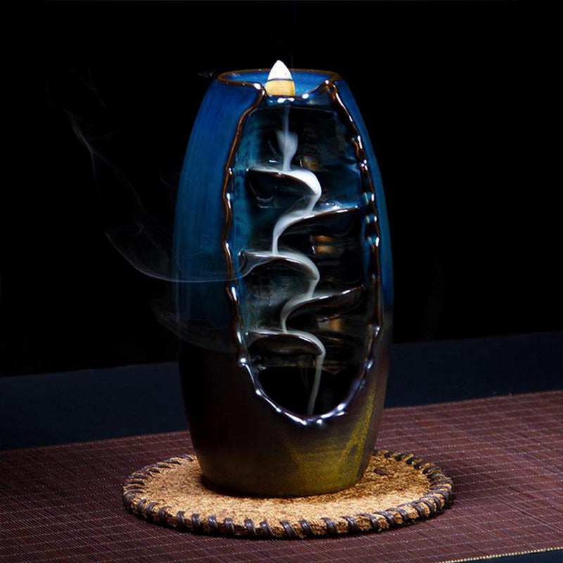 Mystic Blue Incense Holder-Waterfall Incense Holder