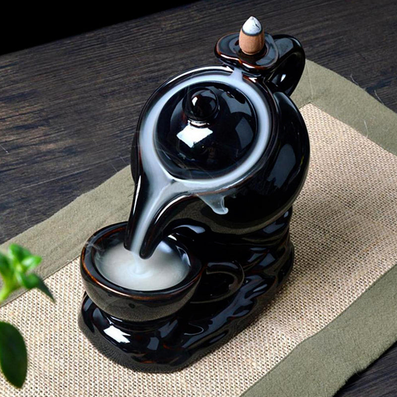 Incense Waterfall - Ceramic Tea Pot Backflow - Incense Burner