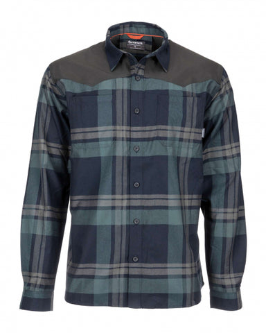 Simms Men's Black's Ford Flannel Shirt