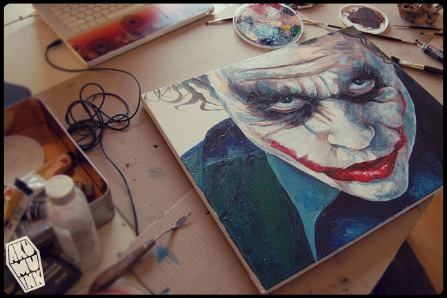 Joker 4 Oil Painting :: WiP 3
