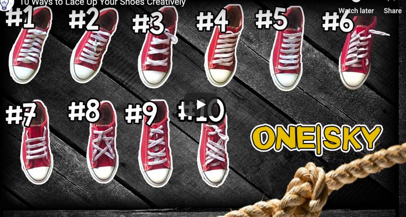 How to Lace Your Converse Chuck Taylor Shoes