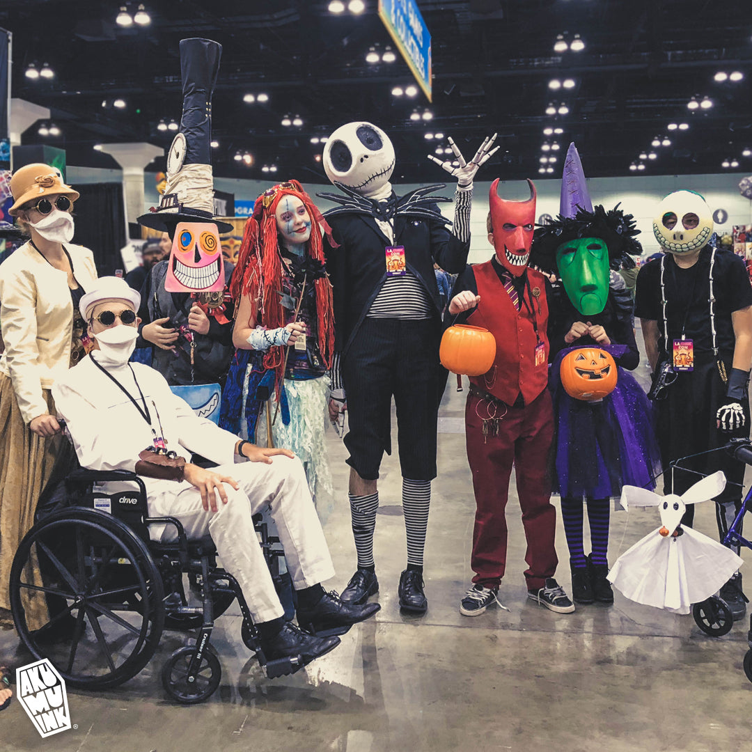 halloween cosplay, horror cosplay, goth cosplay, nightmare before christmas cosplay, lacomiccon, comiccon cosplay, cosplay, jack sally cosplay