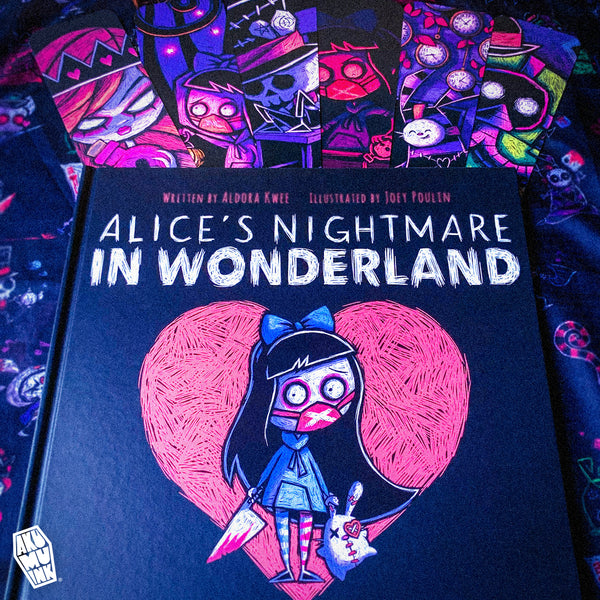 joey poulin, aldora kwee, gothic alice book, goth alice book, goth wonderland book, goth alice storybook, goth alice in wonderland, emo alice in wonderland book, tim burton alice in wonderland book