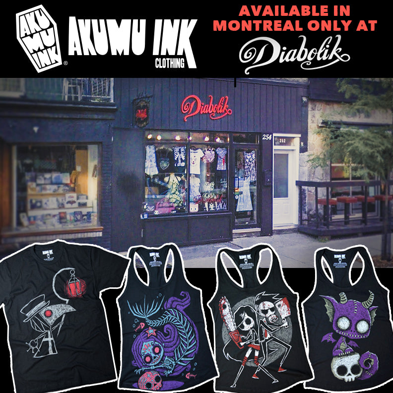 diabolik, montreal, montreal goth boutique, alternative style, Boutique Créatures, pinup style, mont-royal est, akumu ink wholesale, boutique gothique montreal