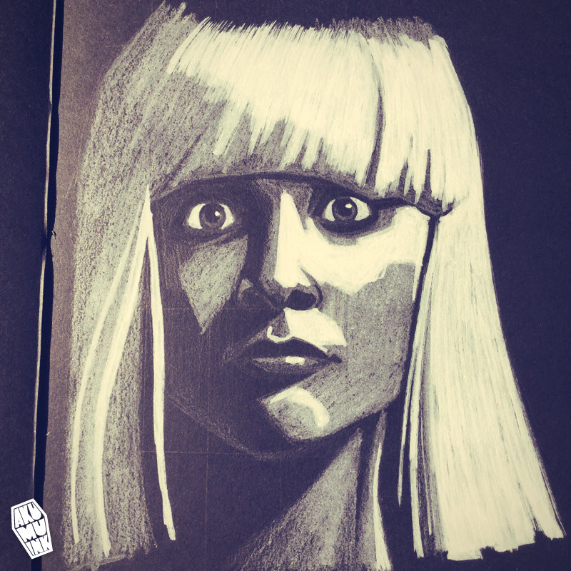 maddie ziegler, maddie ziegler art, maddie ziegler fanart, sia chandelier fanart, sia elastic heart fanart, girl sia video, girl dancer sia, mini sia, sia art, sia fanart, maddie ziegler portrait